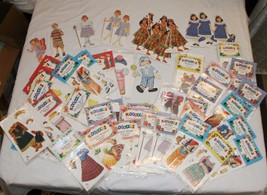 Kidoodles by Peck Aubry Paper Dolls Accessories HUGE LOT New 72 pcs Doll... - $55.26