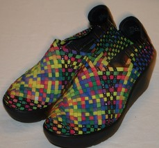 Steven Steve Madden Heels Shoes Sz 6 Brightly Colored Woven Colorful - $31.07