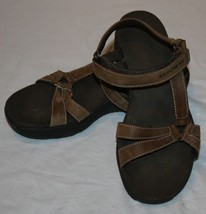 Skechers Shape Ups Sandals 7 Brown Leather Wome... - $43.65
