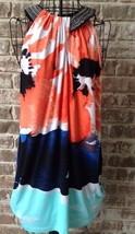 Alfani Baby Doll dress Sz XL Embellished neckline watercolor design Keyh... - $33.94