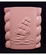 Sailing Clipper Ship Abingdon Pottery Vase Salm... - $19.95