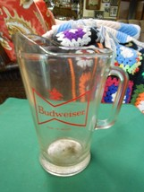 """Great Collectible BUDWEISER Glass PITCHER 9"""" height....................SALE - $9.90"""