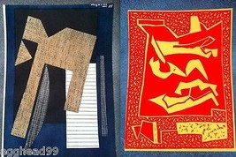 Alberto Magnelli Set Of 2 Lithographs Linocuts X Xeme Siecle Mourlot Paris Rare! - $1,500.00