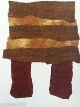 ENRICO BAJ Original Lithograph 1962 Raised Texture Modern Art Print Pari... - $579.42