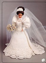 Annie's 1994 Gibson Girl Bride Gown fits Barbie Doll Crochet PATTERN BOOKLET - $2.67
