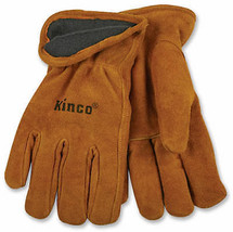 Lined Cowhide Leather Gloves, Large - $24.74