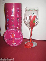 Lolita Christmas Diva Wine Glass New w/ Box & T... - $67.30