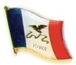 IOWA - Wholesale lot 12 state flag lapel pins ep516 - $18.00