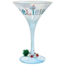 Lolita I Still Believe Martini Glass Rare Christmas Holiday New in Box w... - $186.07