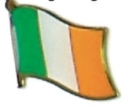 IRELAND - Wholesale lot 12 irish flag lapel pins ef112