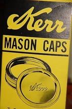 Vintage good condition KERR MASON CAPS Box with 9 unused 2-piece mason caps - $8.99