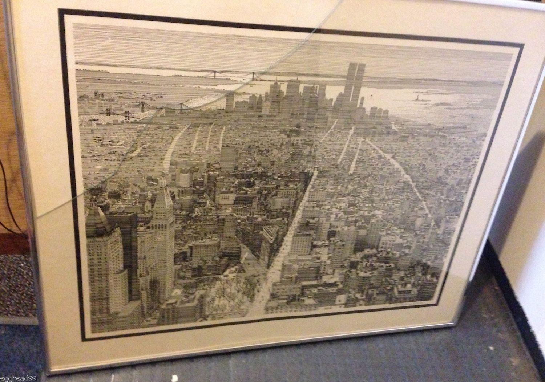 S. FINKENBERG Sandra PENCIL SIGNED LITHOGRAPH Flatiron Building NEW YORK Framed! - $467.14