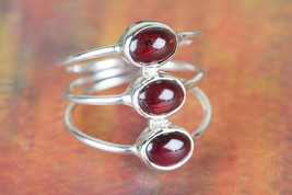 Awesome Garnet Cab Gemstone Handmade Sterling Silver Ring All size BJR-4... - $17.99+
