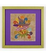 CLEARANCE Glitzy Gourdelia halloween cross stitch chart Glendon Place   - $8.00