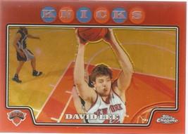 David Lee Topps Chrome 08-09 #142 Orange Refractor #'d 499 New York Knicks - $1.75
