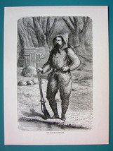 AMERICAN WEST Captain Baron de Wogan Explorer - 1866 Antique Print Engra... - $16.20