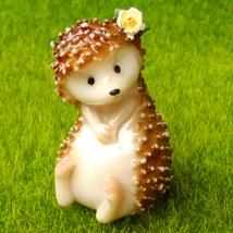 Shy Hedgehog Cute Fairy Garden Terrarium Figurine Home Shelf Desk Decor ... - $10.99