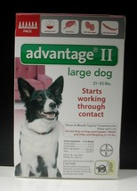 ADVANTAGE II for Large Dogs 21-55 lbs (6 PACK)   !!! US EPA APPROVED !!! - €49,00 EUR