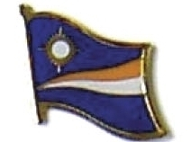 MARSHALL ISLANDS - Wholesale 12 flag lapel pins ef150