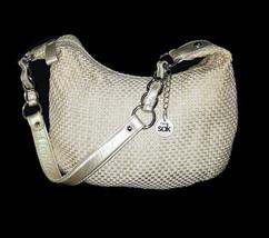 The SAK Champagne Rayon Woven Metallic Chain HO... - $24.70