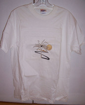 NWOT Las Vegas Cotton T-Shirt White w/ Gold and Silver Palms Sz Med 38-40 - $24.70