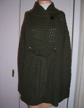 VINCE Green Honeycomb Knit Cardigan Sweater Coat Alpaca Wool Blend Sz S VGUC - $103.95