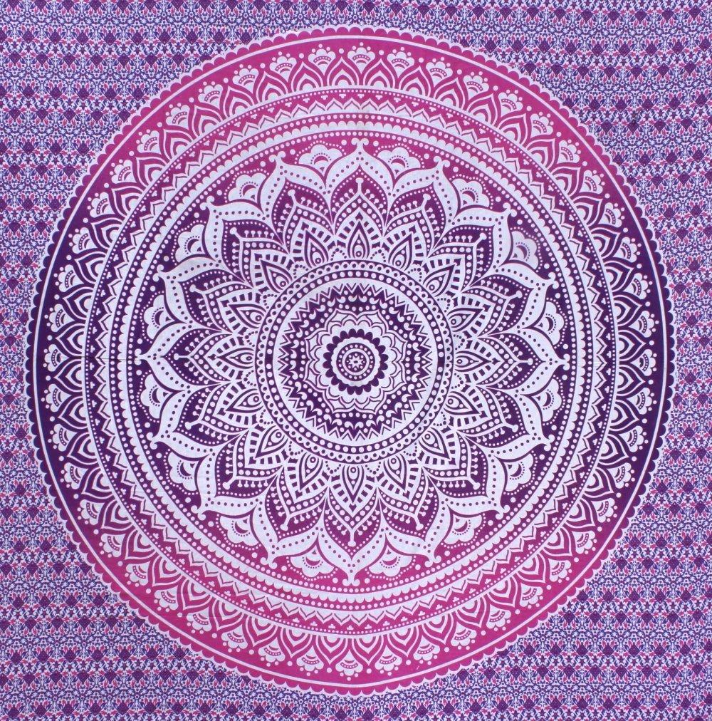 Fairdecor New Pink Purple Ombre Mandala Tapestries Mandala