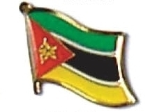 MOZAMBIQUE - Wholesale lot of 12 flag lapel pins ef161