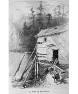 NORTH CAROLINA Old Mill on Reems Creek French Broad River - 1883 German ... - $16.20