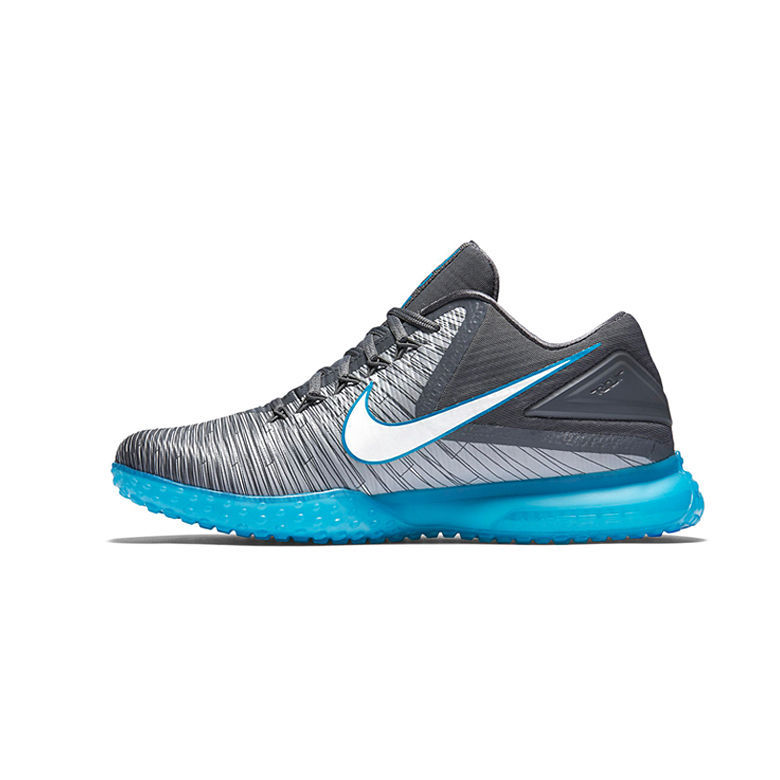 nike zoom trout 3 baseball cleats turf tf shoes gray blue