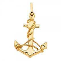 14K Yellow Gold Anchor Pendant - $174.99
