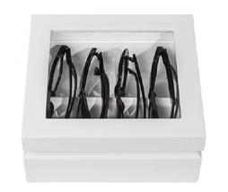 OYOBox Luxury Eye Wear Unisex Mini White Lacquer Finish Wood Organizer Box - €132,95 EUR
