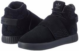 adidas Originals Big Kids Tubular Invader Strap Sneaker Black S80474 - $65.14