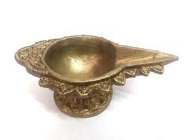 Decorative Brass Oil Lamp Diyas Set of 3 Diya Kuber India Hindu Puja Rel... - $13.00