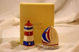 Lenox 2018 Figural Lighthouse And Sailboat Salt And Pepper Shaker Set NIB - $39.49