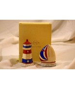 Lenox 2018 Figural Lighthouse And Sailboat Salt And Pepper Shaker Set NIB - $35.90