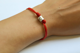 Zodiac signs bracelet, Libra sign, red cord with silver sign charm, red ... - £7.49 GBP