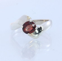 Burma Orange Red Spinel Handmade 925 Silver Ladies Solitaire Ring #1529 Size 7 - £50.71 GBP