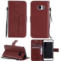 Galaxy S7 Edge Case,GLORYSHOP [Embossed tree] Premium PU Leather Wallet ... - $4.94