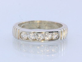 Natural Sparkling White Zircon Handmade Sterling Silver Ring #1507 Size 6.5 - £61.26 GBP