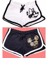 Disney Mickey mouse and Minnie mouse Shorts Women's Shorts white & black... - $27.99