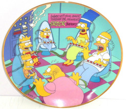 Simpsons Collector Plate Family Therapy Bart Lisa Marge Homer Franklin Mint - $59.95