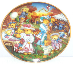 Teddy Bear Outing Family Fun Collector Plate Franklin Mint Vintage Retired - $59.95