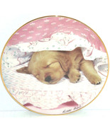 Golden Retriever Collector Plate Puppy Portraits Do Not Disturb Hamilton Dog - $59.95