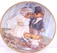 Teddy Bear Collector Plate Just Married Franklin Mint Bride Groom Vintage  - $59.95