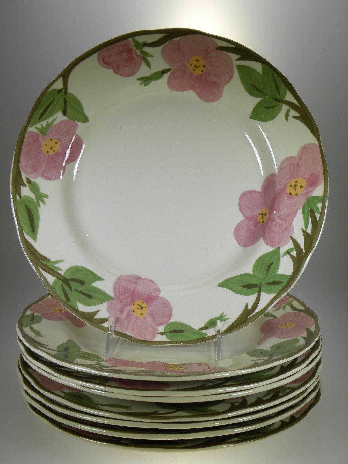 Franciscan Desert Rose 8 Dinner Plates 8 Salad Plates & 8 Rimmed Soup Bowls