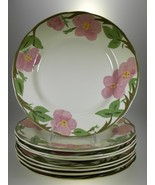 Franciscan Desert Rose 8 Dinner Plates 8 Salad Plates & 8 Rimmed Soup Bowls - $88.83