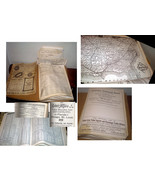 ANTIQUE RAILROAD BOOK W/MAPS & 1000'S OF TRAIN STATIONS IN LISTS- WEALTH... - $29.99