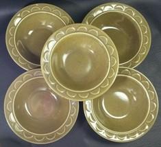 Five Homer Laughlin Sheffield Granada Cereal Bowls - $24.74