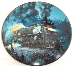 Train Plate Knowles Collector Overland Limited Romantic Age Steam Engine... - $49.95